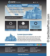 Website template layout