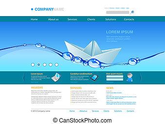 Website template: Origami Boat