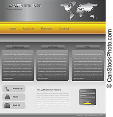 Website template professional design, editable vector
