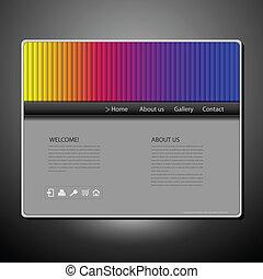Website template - Website design template with rainbow...