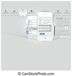 website template with mobile phone