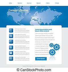 website, tervezés, sablon