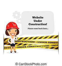 Website Under Construction Message. In the EPS file, each...