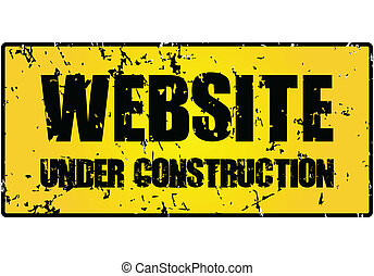 """website under construction"" sign (vector illustration)"
