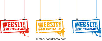 website under construction signs