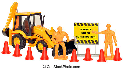 Website Under Construction - Toy construction set with...