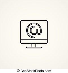 website vector icon sign symbol
