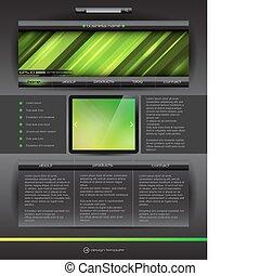 website, vektor, design, schablone