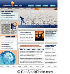 website, vektor, schablone