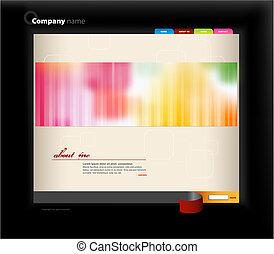 website, vektor, umění, template.