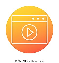 website video seminar online education and development elearning gradient style icon