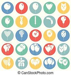 website, web, begriff, kreise, ballon, heiligenbilder, farbe, symbol, grafik, vektor, oder, einfache , satz, beweglich, hintergrund, internet, taste, app., zeichen., design.