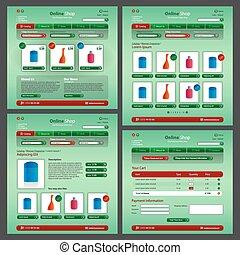 website, web, laden, modern, perfumery, thema, grün, online, 2.0, rotes