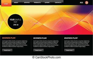 website, web, vector, ontwerp onderdelen