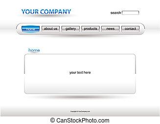 Website white blue glass template
