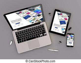 website, zenit, budowniczy, projektować, czuły, prospekt