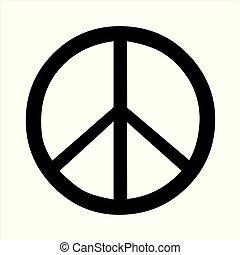 websites., bandiera, illustrazione, simbolo, pace, vector.,...