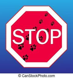 Webstop sign on with dog tracks