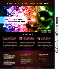 Webtemplate or Blog Graphics - Music Themed Webtemplate or...