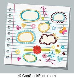wechselbuchpapier, kind, zeichnungen