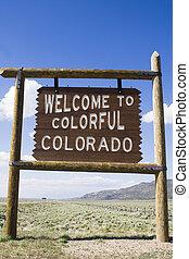 Wecome to Colorado sign