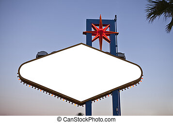 Wecome to Las Vegas Sign Backside Text Removed with Clipping Path.