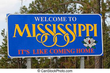 wecoming, 密西西比, 向前, 高速公路 簽署