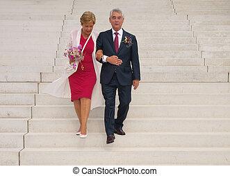 wedding, ältere leute