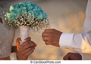 wedding, 5, ringe, tauschen