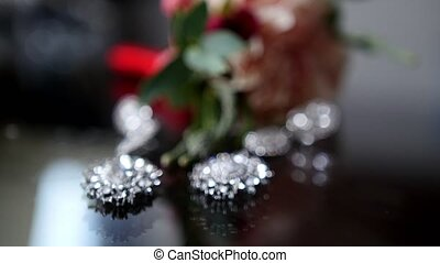 Wedding accessories on the table, slider