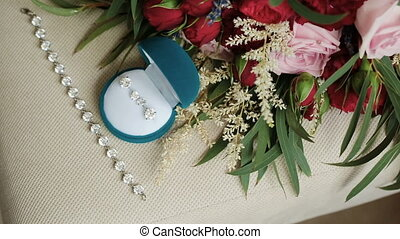 Wedding accessories. Rings and Jewelry.