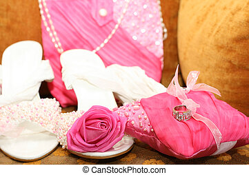 Wedding accessories with wedding rings
