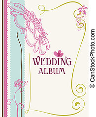 Wedding album cover vector illustration