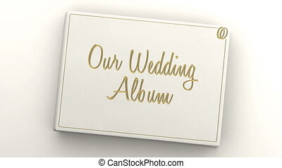 Wedding album with blank pages