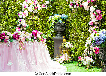 Wedding arch - Beautiful wedding arch with flowers
