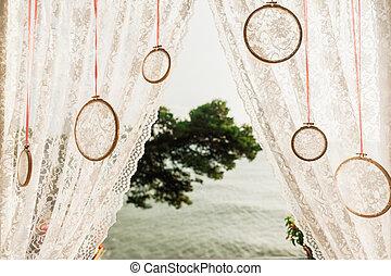 wedding arch close up
