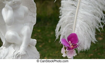 wedding arch, decor, ceremony, angel