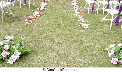 wedding arch, decor, ceremony, flowers,