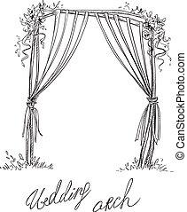 Wedding arch. Decoration.