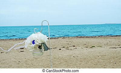 Wedding Arch on the coast of sea