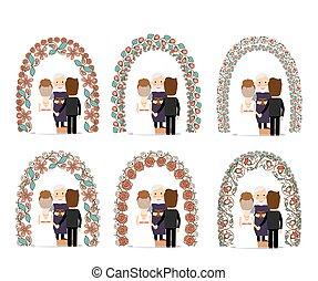 Wedding arch set