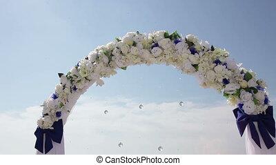 Wedding arch.