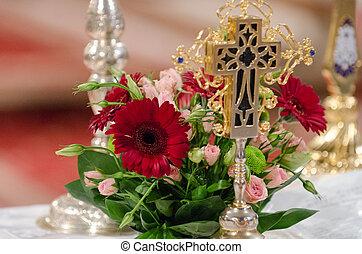 Wedding arrangement for church