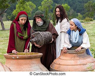 Wedding at Cana bible scene