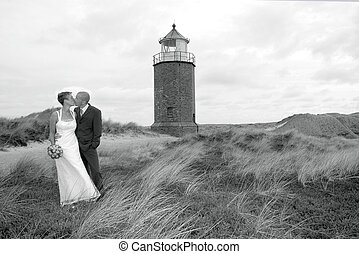 Wedding at the beach on the island sylt, germany