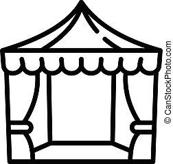 Wedding awning icon, outline style - Wedding awning icon....