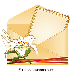 Wedding background card - invitation with flowers
