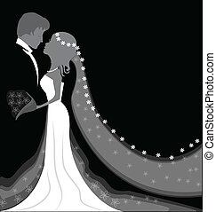 Wedding background with space for text -icon vector