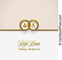 Wedding Background - Life Line, wedding background, eps 10
