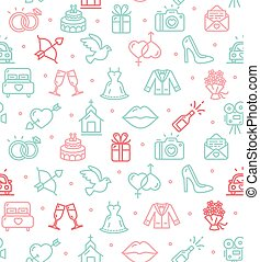 Wedding Background Pattern. Vector